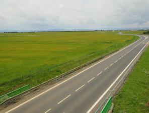 Průmyslová zóna Triangle – 1. etapa komunikace II 607 doprovodná silnice k R7